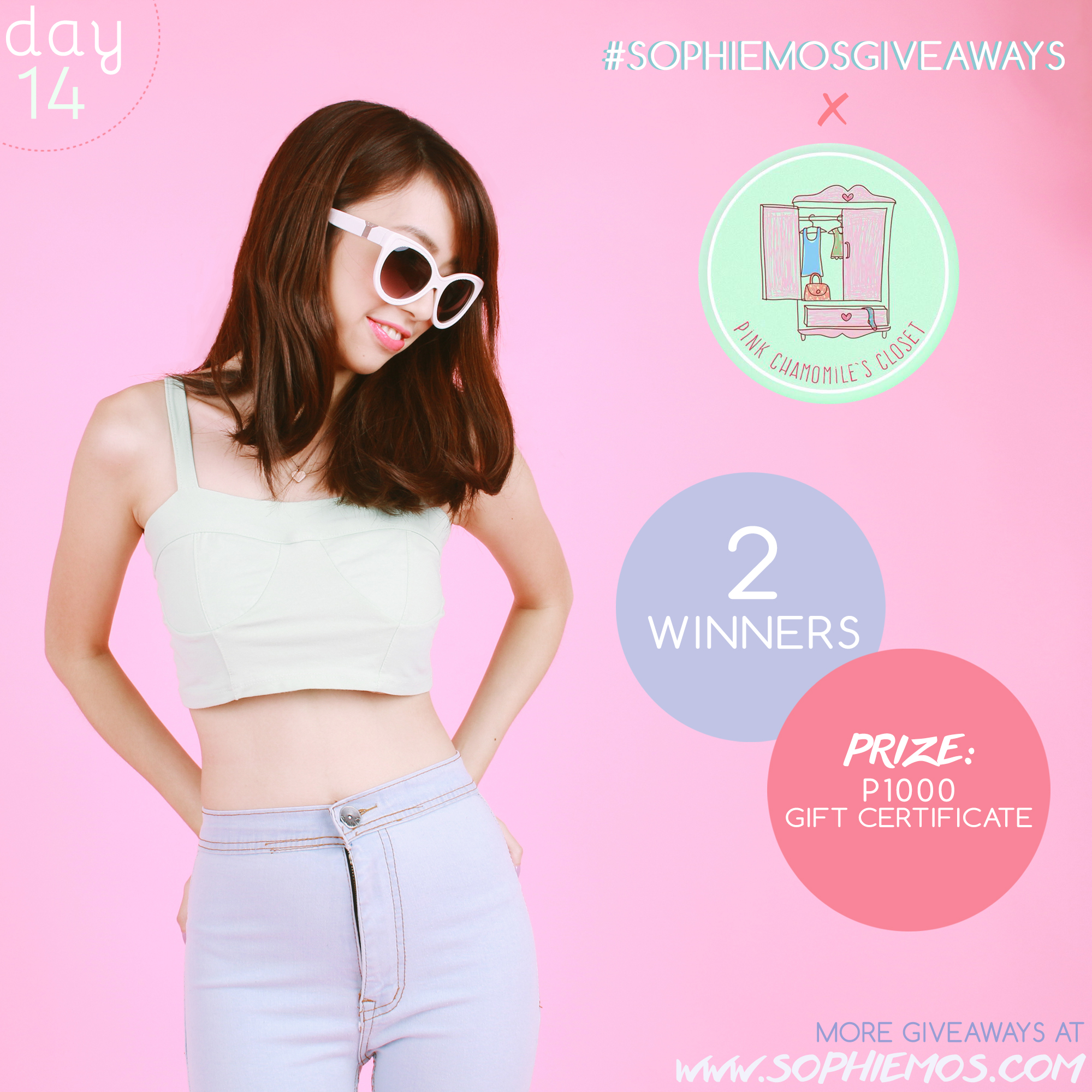 [CLOSED] DAY 14 OF #SOPHIEMOSGIVEAWAYS: PINK CHAMOMILE'S CLOSET