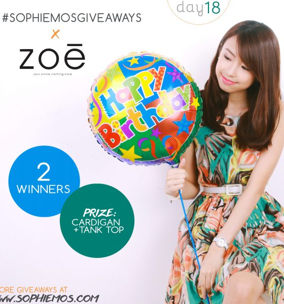 [CLOSED] DAY 18 OF #SOPHIEMOSGIVEAWAYS: ZOE