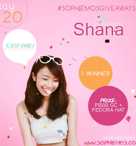 [CLOSED] DAY 20 OF #SOPHIEMOSGIVEAWAYS: SHANA