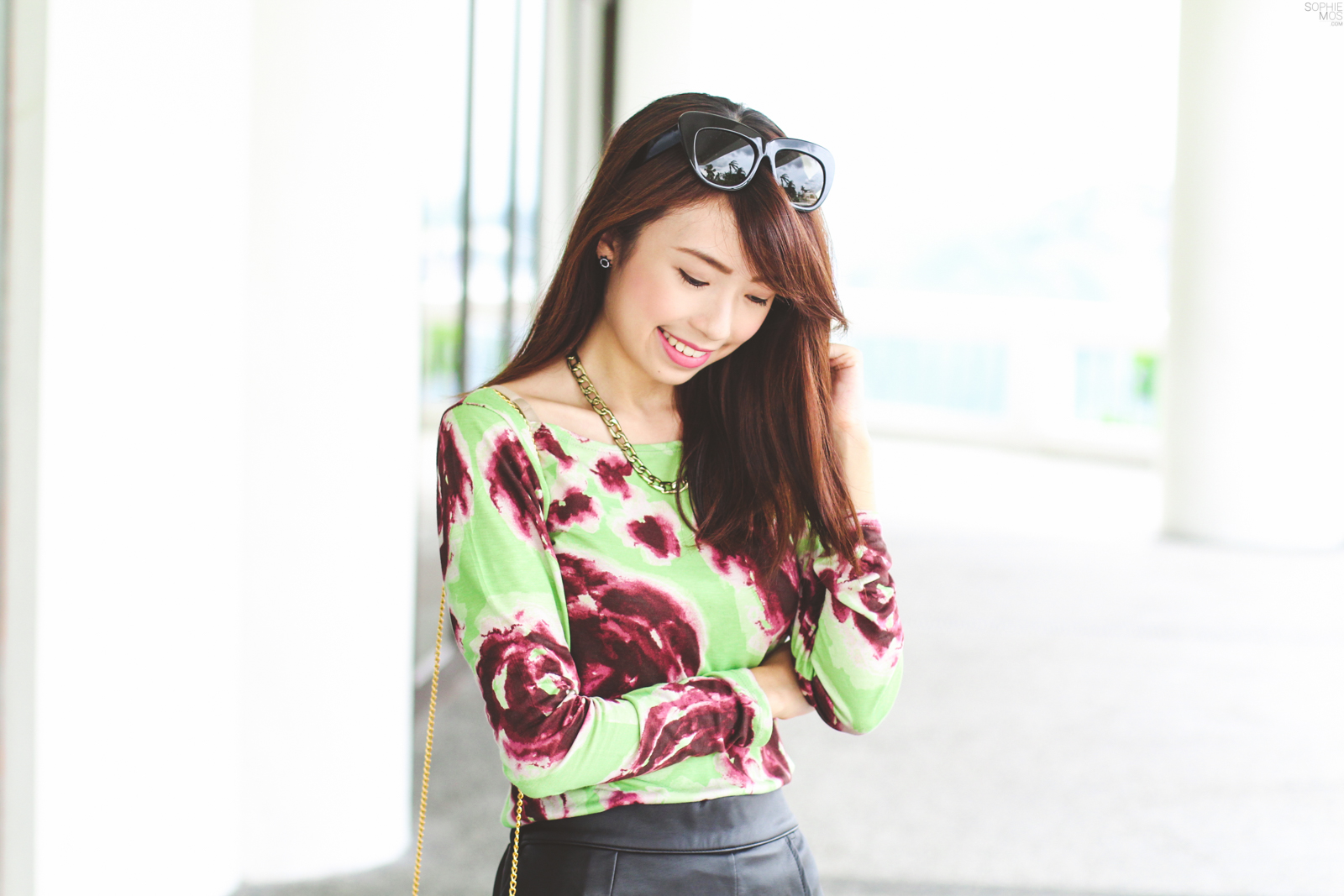 Leather x Floral