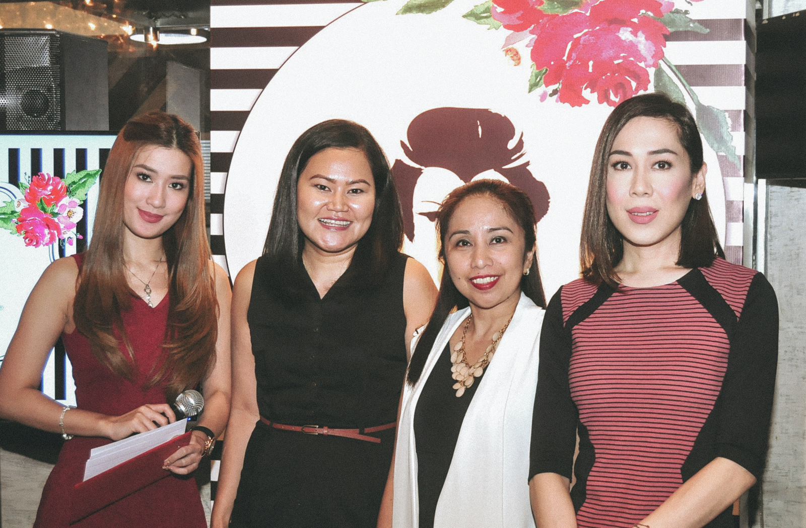 Host Janeena Chan, Dr Lindsay Torralba, Kojiesan Marketing Head Tricia Gregorio and Make Up Artist RB Chanco